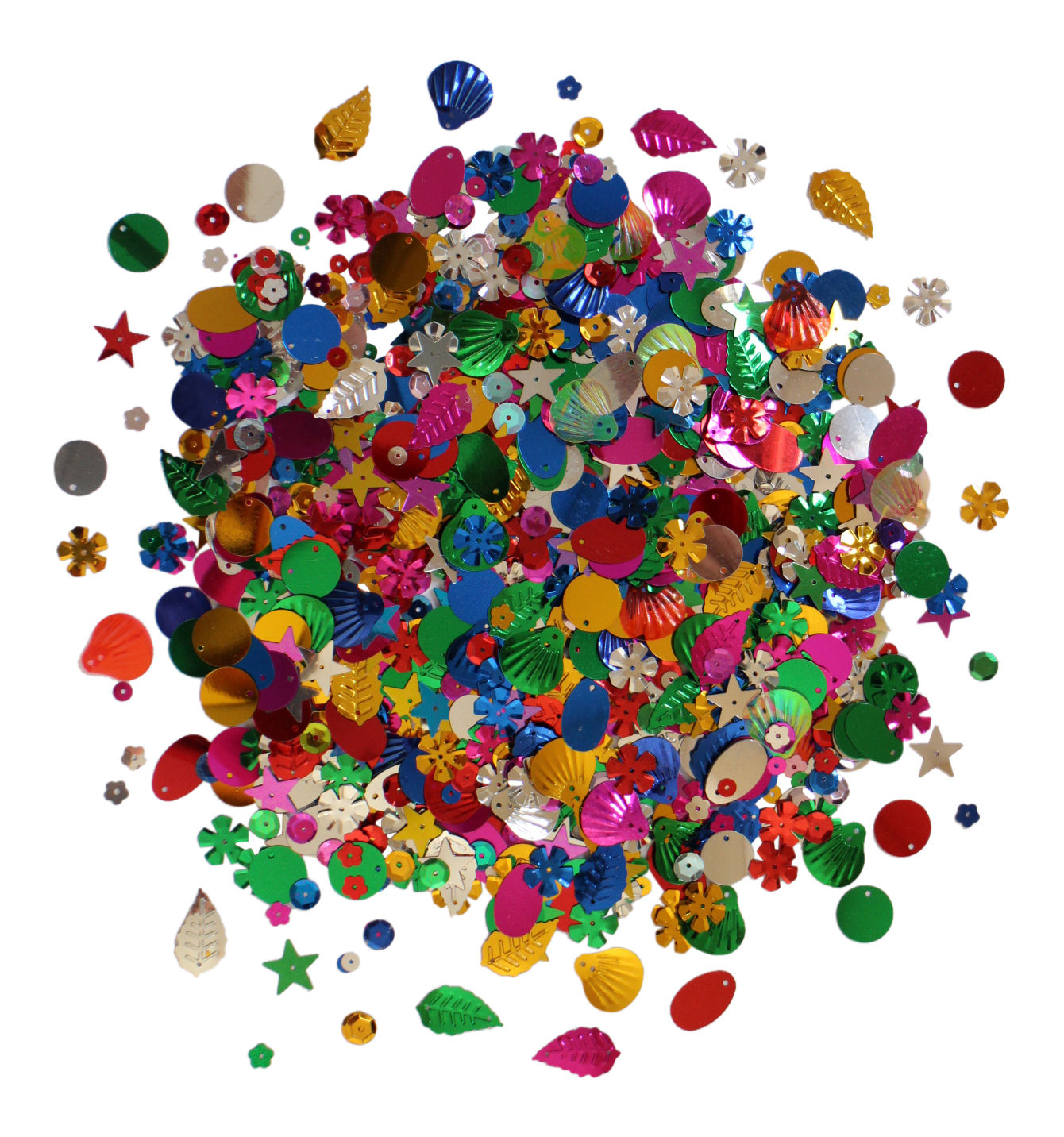 50g Loose Craft Sequins Colours Shapes Sewing Trim